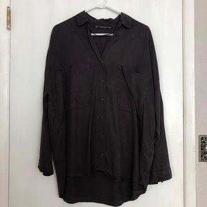 Zara Oversized Button-down Blouse